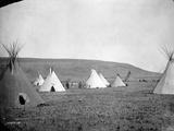 Atsina Camp Scene