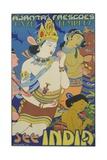 Ajanta Frescoes Cave Temples Poster