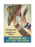 Americans All Let's Fight for Victory Poster