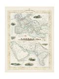 Overland Routes - India and China Reproduction d'art par John Rapkin