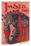 India - Adorned Elephant - Trans World Airlines Fly TWA Jets
