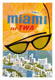 Miami  Florida - Trans World Airlines Fly TWA