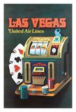Las Vegas  Nevada - United Air Lines - Slot Machine
