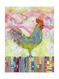 Rooster on a Fence I Giclée premium par Ingrid Blixt