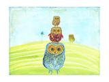 Owl Totem Giclée premium par Ingrid Blixt