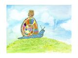 Meadow Snail Giclée premium par Ingrid Blixt