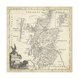 Map of Scotland Reproduction d'art par T. Jeffreys