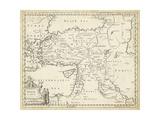 Map of Turkey in Asia Reproduction d'art par T. Jeffreys