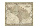 Plan of Washington, D.C. Reproduction d'art par Mitchell