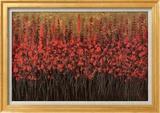 Brun roux Art texturé encadré par Jeremy Bortz
