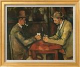 The Card Players Art texturé encadré par Paul Cézanne