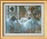 Dancers at Rest Art texturé encadré par Edgar Degas