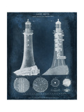 Lighthouse Blueprint Reproduction d'art par Vision Studio
