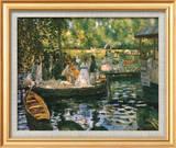 Le Grenouillere Art texturé encadré par Pierre-Auguste Renoir