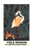 Poster for Field Museum with Giant Heron Giclée