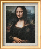 Mona Lisa (La Gioconda), c.1507 Art texturé encadré par Leonardo Da Vinci