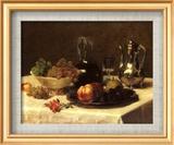 Still Life, Corner of Table Art texturé encadré par Victoria Dubourg