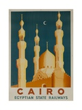 Cairo Egyptian State Ralwats Travel Poster Minarets