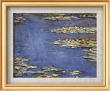 Water Lilies (Nymphéas), c.1906 Art texturé encadré par Claude Monet