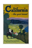 California the Year Round  Travel Poster