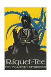 German Advertisement for Riquet Tea  Buddha and Thorn Bush