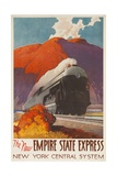 The New Empire State Express  New York Central System Rail Poster