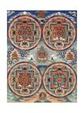 Tibetan Thangka with Four Mandalas Giclée