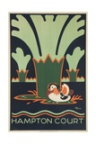 Hampton Court British Travel Poster