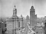 Michigan Avenue View in Chicago  Ca 1925