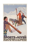 Sports D'Hiver, French Plm Ski Poster Giclée