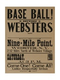 Base Ball Between Websters  1900 Baseball Poster