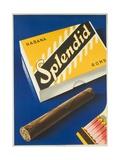 Splendid Cigar  Swiss Advertising Poster
