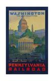 Pennsylvania Railroad Travel Poster, Washington the City Beautiful Giclée