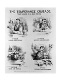Cartoon of the Temperance Crusade: Four Hours in a Bar Room Giclée