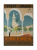Visit Spain  Cordoba Court of the Caliphs Spanish Travel Poster