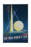 1939 New York World's Fair Poster  the World of Tomorrow  Blue