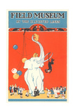 Poster for Field Museum with Circus Elephant Giclée
