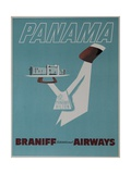 Braniff Airways Travel Poster Panama