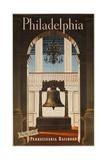 Pennsylvania Railroad Travel Poster  Philadelphia Go by Train