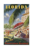 Pennsylvania Railroad Travel Poster  Florida Go by Train