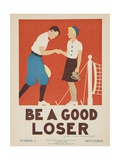 1938 Character Culture Citizenship Guide Poster  Be a Good Loser