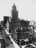 Aerial View of the Crown Building and Vanderbilt Mansion  New York