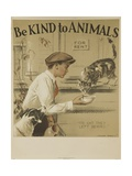1939 Be Kind to Animals  American Civics Poster  the Cat They Left Behind