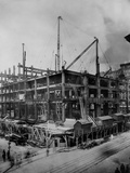 Construction of the Woolworth Building  New York