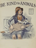 1939 Be Kind to Animals  American Civics Poster  Veterinary Office
