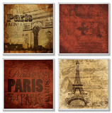 Paris This Paris That 4 Pc Wall Plaque Set