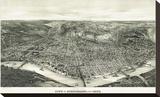 Panoramic View of the City of Cincinnati  Ohio  1900