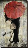 The Red Umbrella Tableau sur toile par Loui Jover