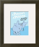 Horton Hears a Who: A Person's a Person (on blue)