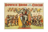 Downie Bros Big 3 Ring Circus Poster